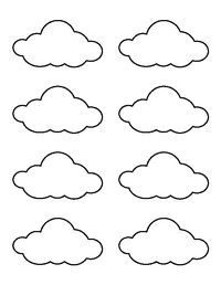 image relating to Printable Cloud Template titled Printable Tiny Cloud Template Nursery decor Cloud