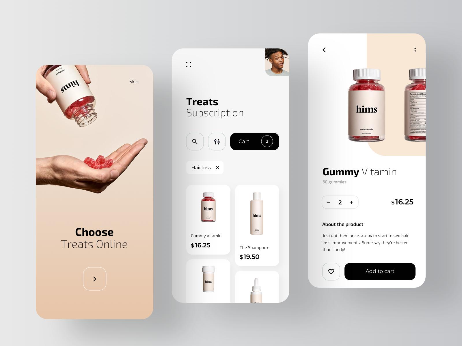 Hims - Pharmacy Mobile Application | Mobile design, Mobile app design, App interface design
