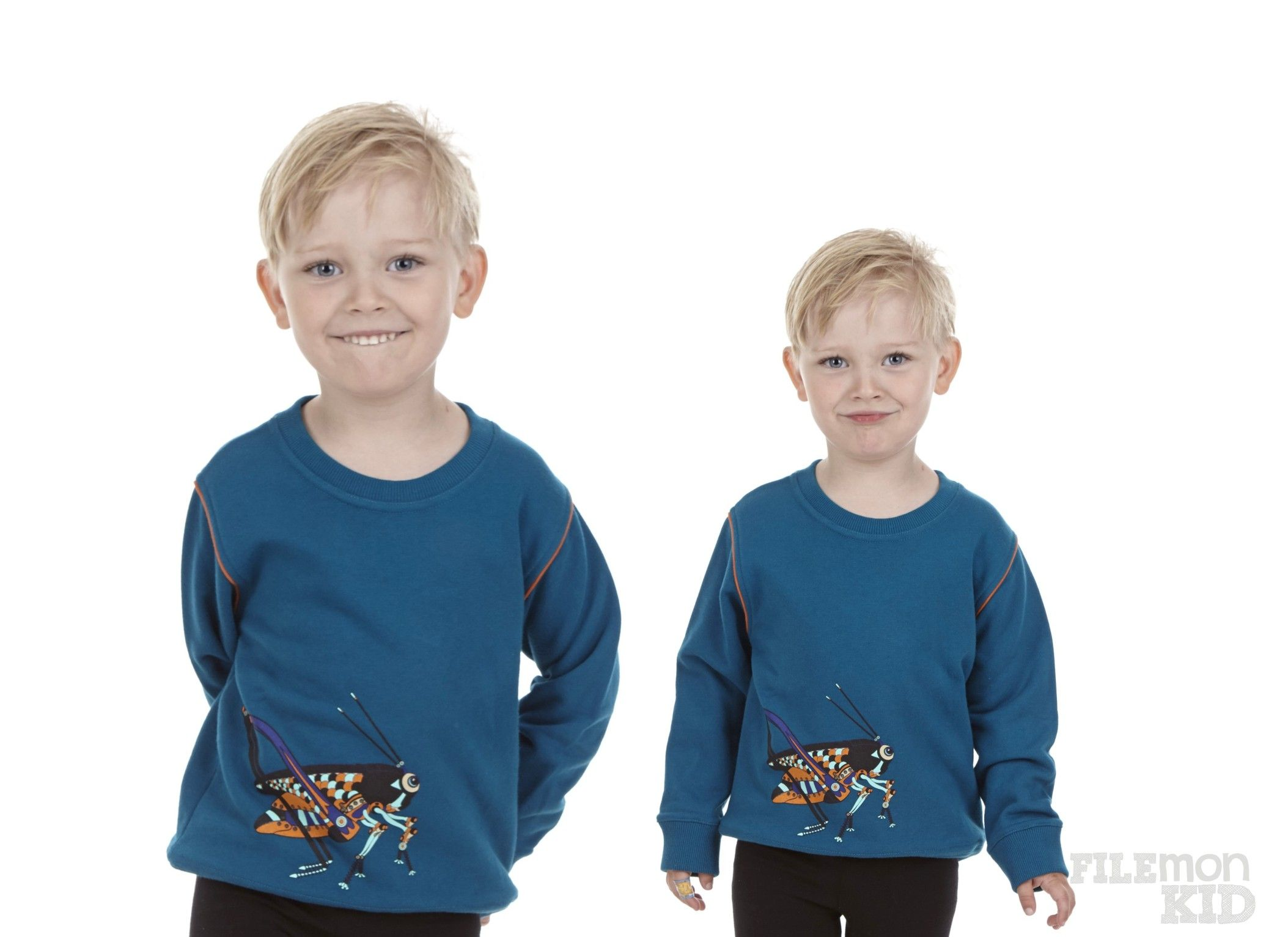 Sweatshirt Grasshopper Blueish