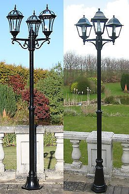 Traditional or #victorian garden lamp post #lights #lighting single double triple, View more on the LINK: http://www.zeppy.io/product/gb/2/191833128879/