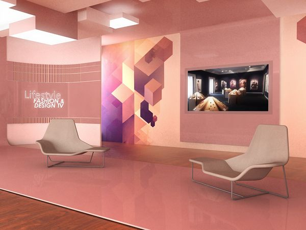 Virtual set _ fashion TV by LIQUIDOSTUDIO , via Behance | Set Design ...