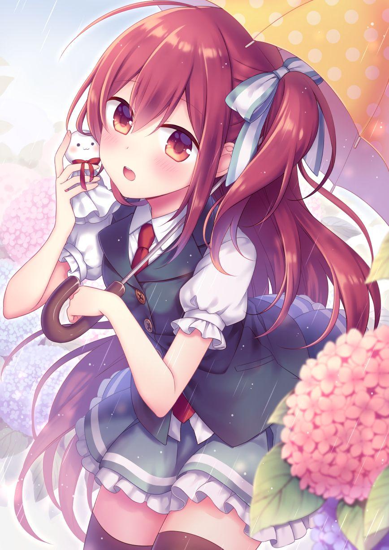 Cute red haired school girl Princess Akane Castle Town Dandelion