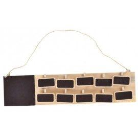 Plan de table ardoise rectangle naturel 30 cm avec 10 ardoises ...