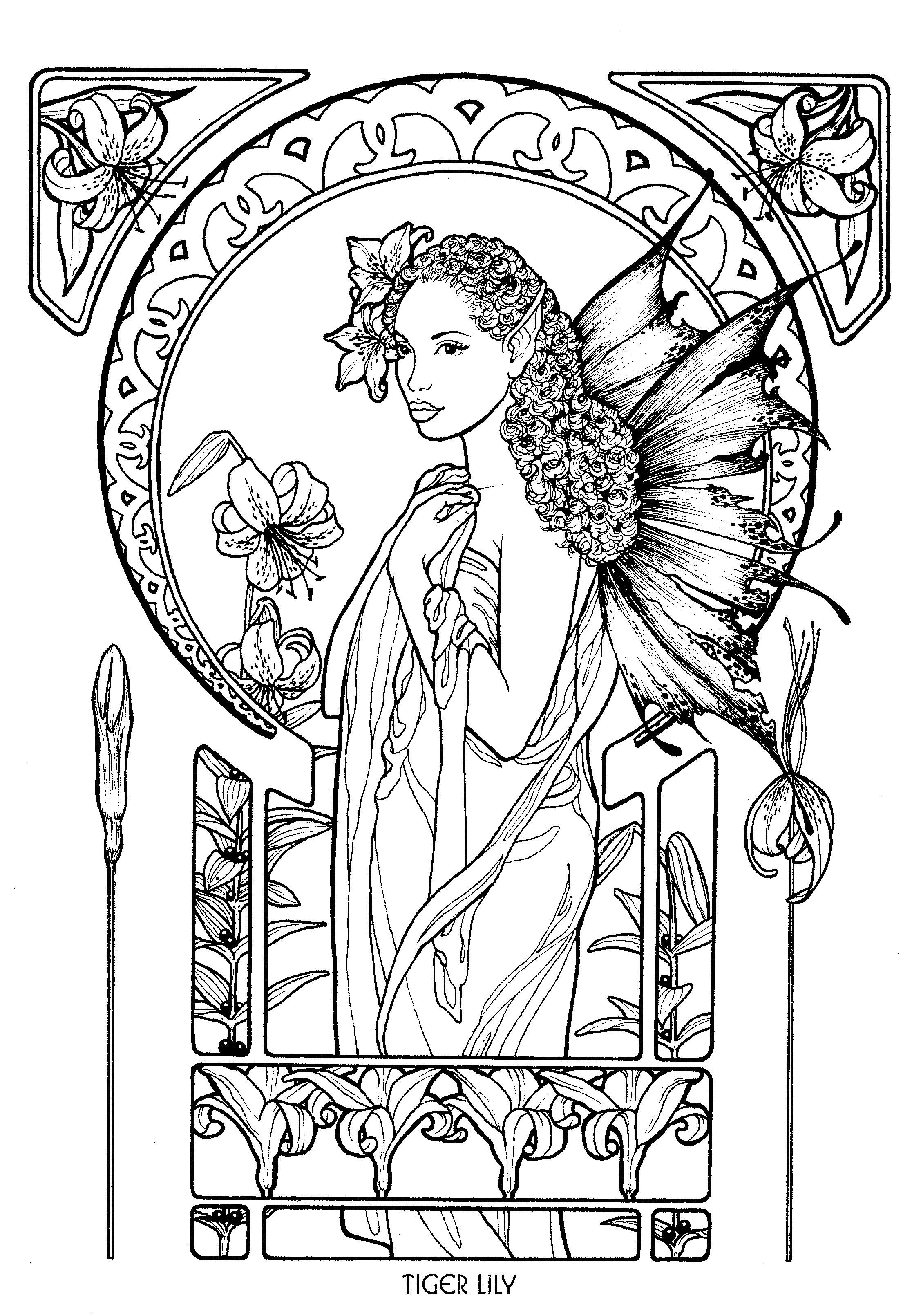 Fairy 5 Fairy coloring pages, Fairy coloring, Coloring books