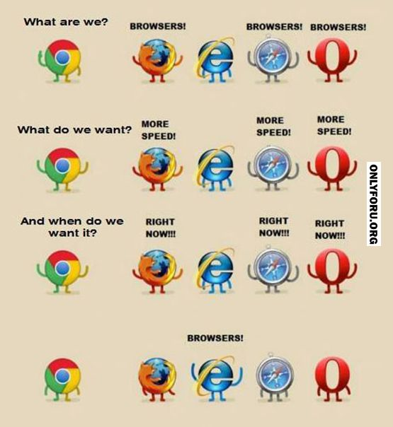 Browsers! Makes me smile? Makes me laugh out loud! So true.