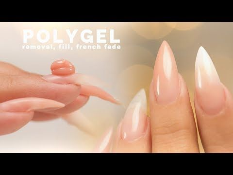 47 Polygel Removal Fill And Sculpting A French Fade Youtube Polygel Nails French Fade French Manicure Kit