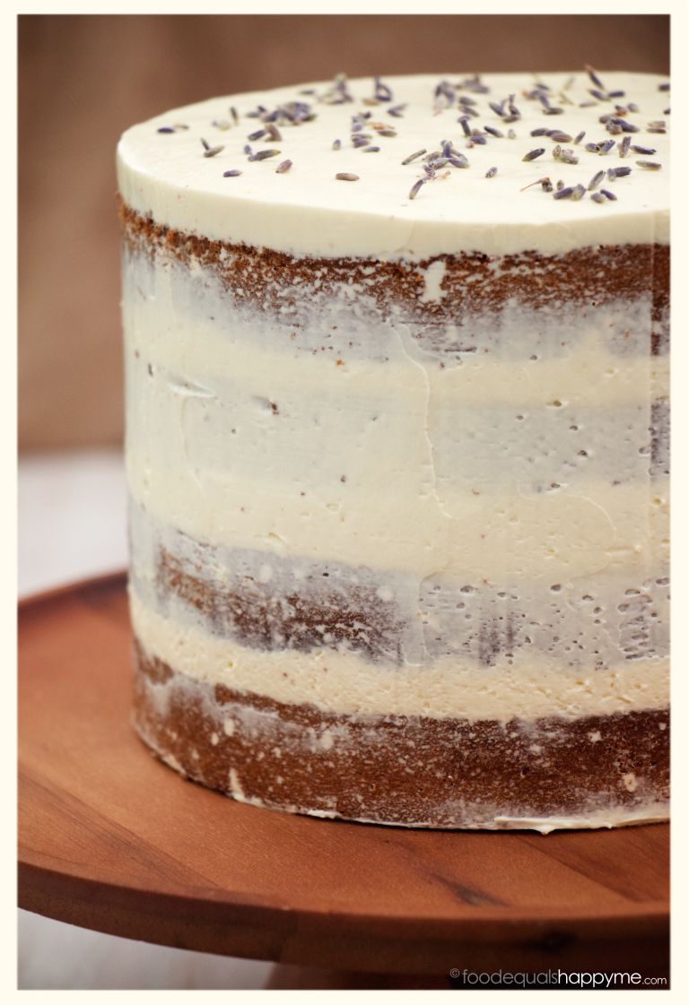 Earl grey tea cake with lavender swiss meringue