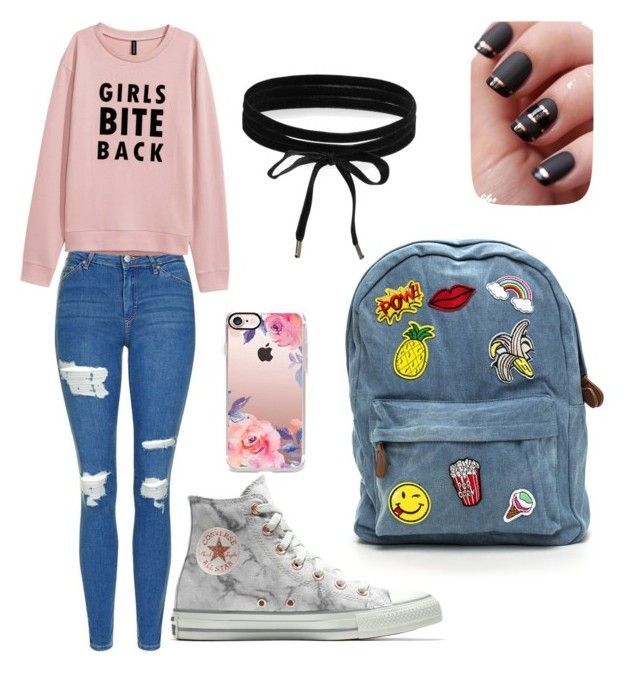 """Untitled #3"" by madi-falk on Polyvore featuring Topshop, Converse, Casetify and Boohoo"