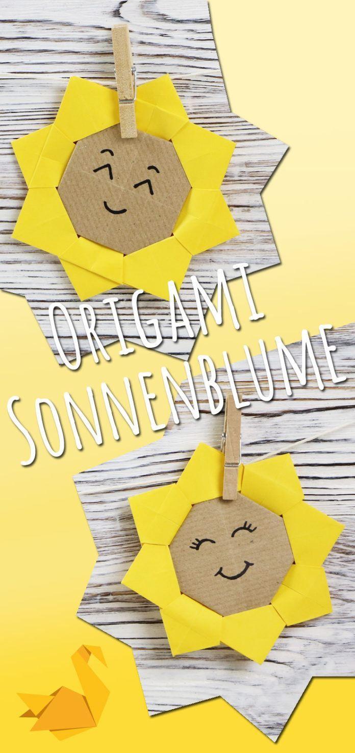 Origami Sonnenblume falten | Faltanleitung mit Bildern – Talu.de