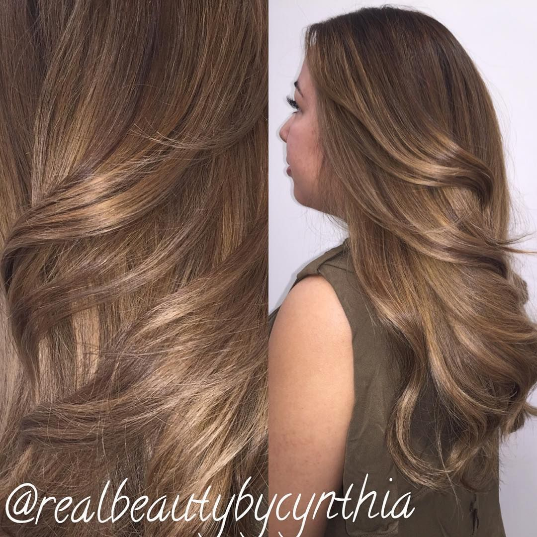 Matte Ash Brown Love The Reflections Of This Color Balayage