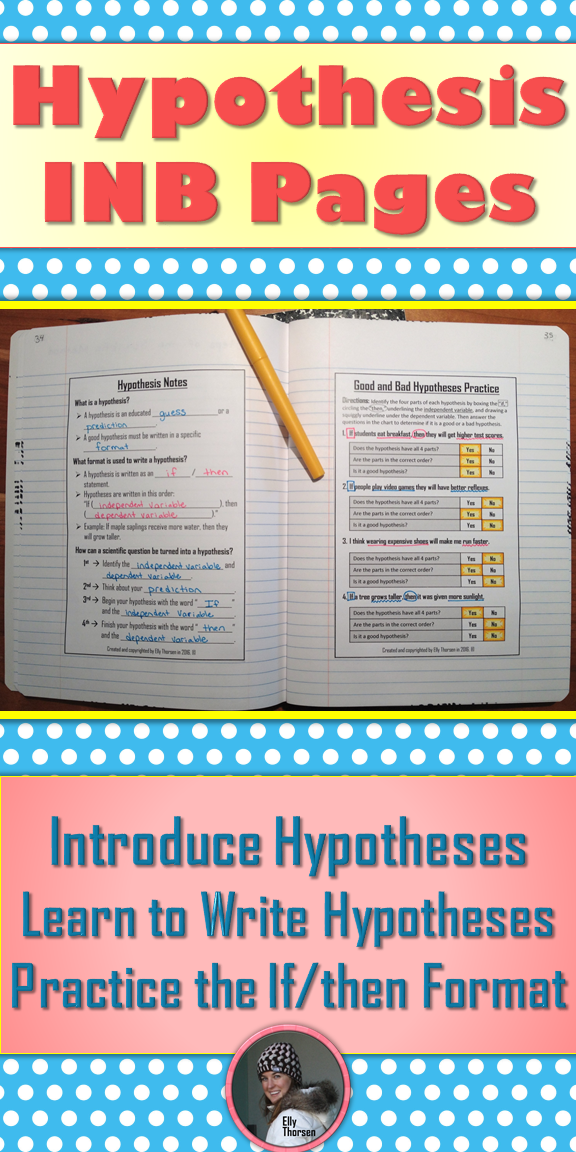 Hypothesis Interactive Notebook Pages For The Scientific Method Middle School Science Class Middle School Science Scientific Method