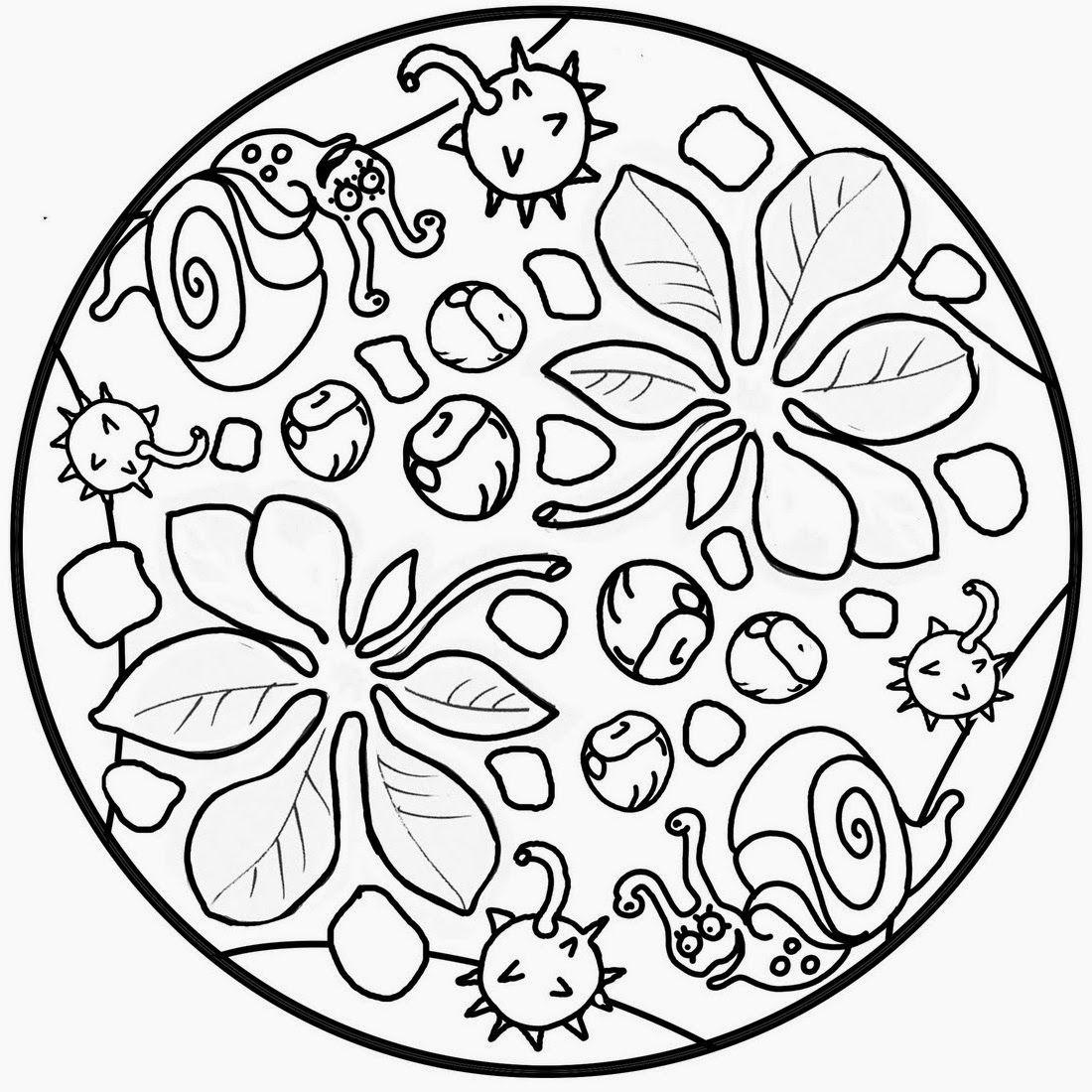 Pin By Liliane Kusters On Herfst Mandala Coloring Pages Mandalas For Kids Mandala Coloring