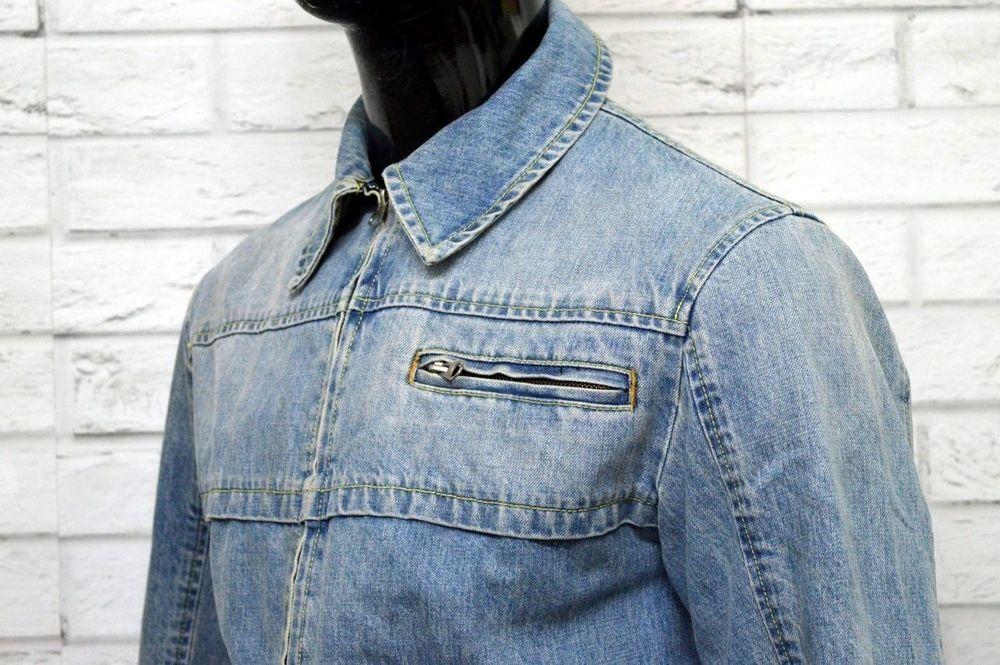 newest ce245 8bf6c ARMANI JEANS Uomo Taglia 50 Giacca in Jeans Giubbino Jacket ...