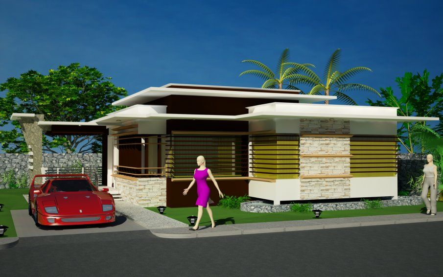 25 Simple Modern Bungalow Designs Selection Images Interior