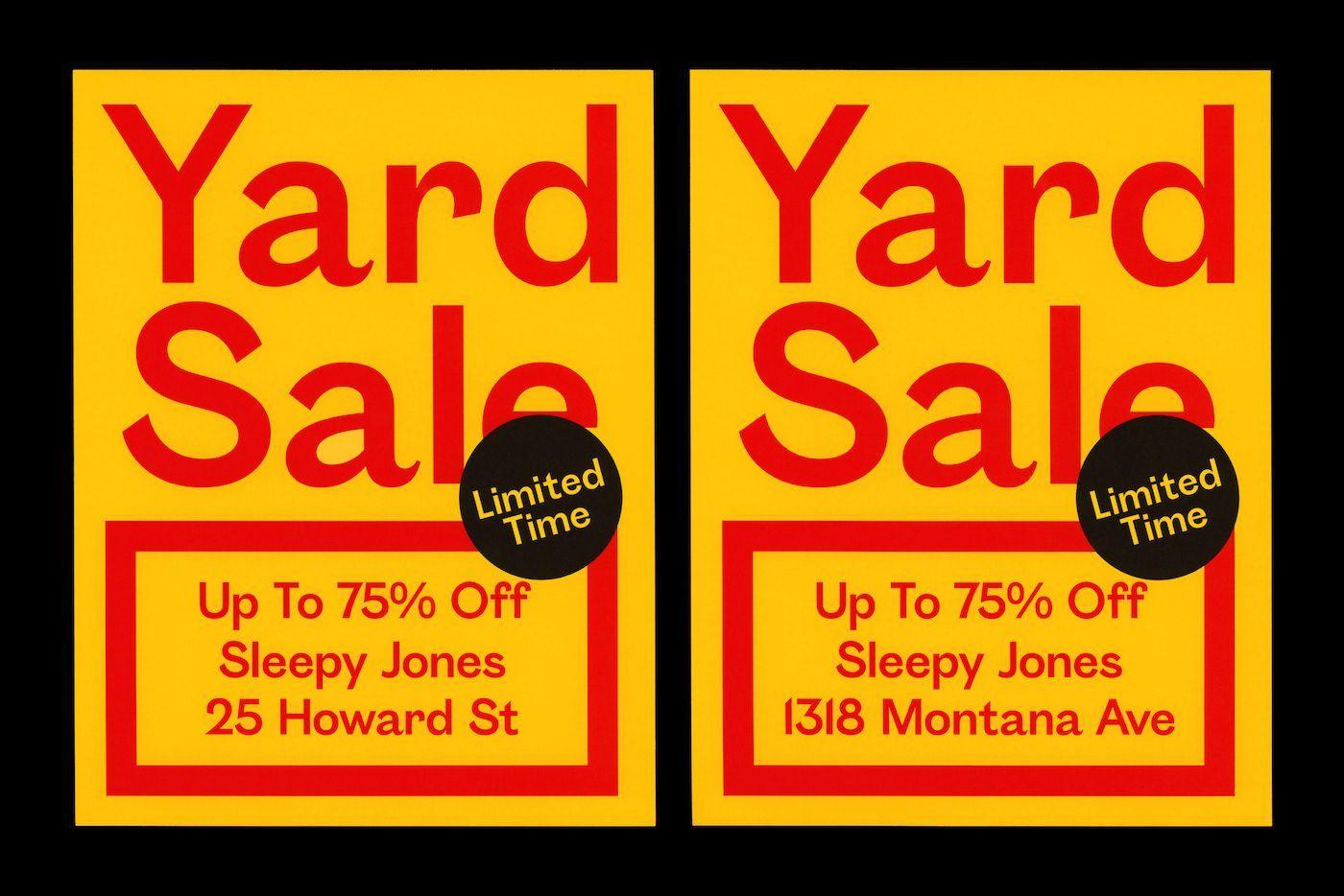 sleepy jones creative yard sale flyer example business flyer
