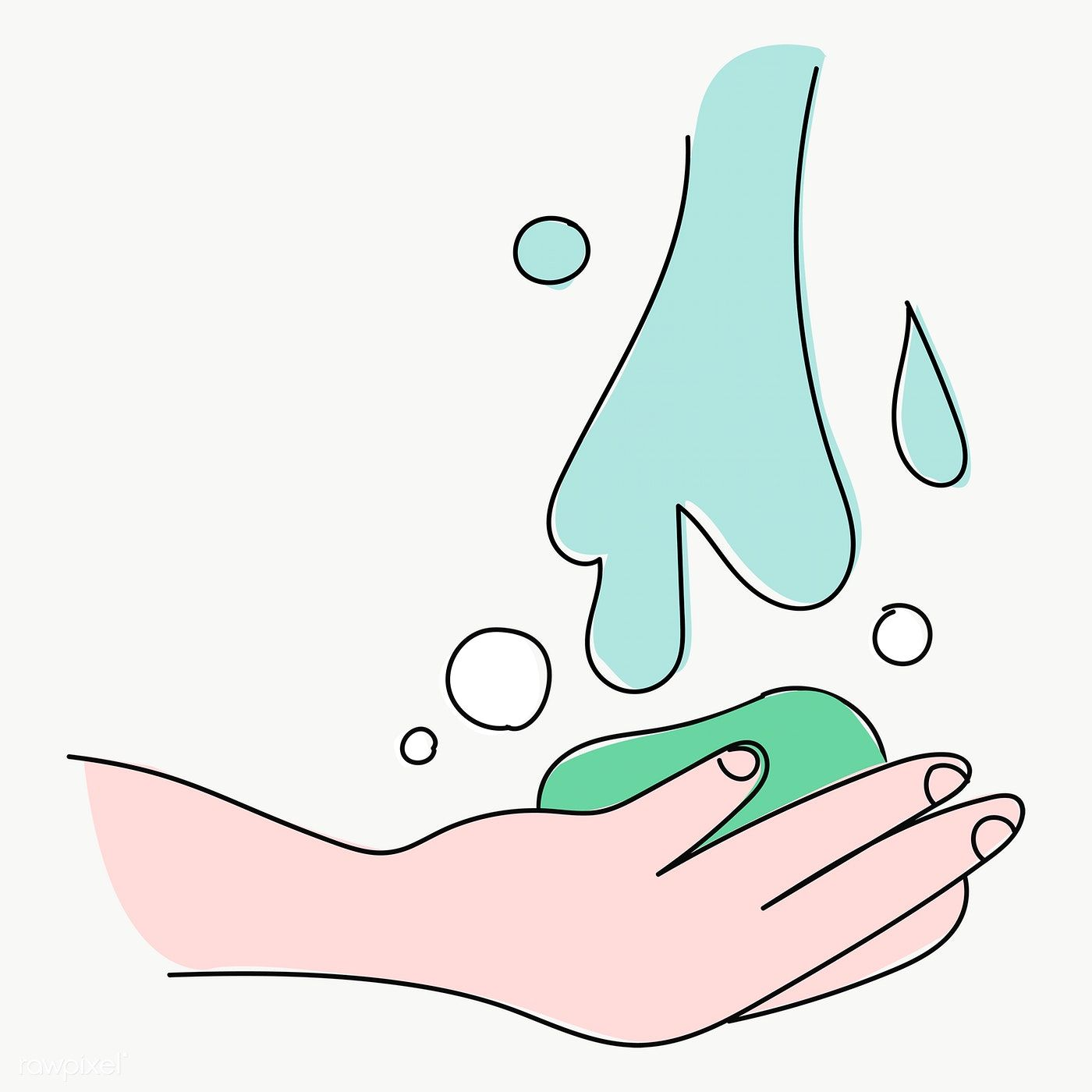 Washing Hands With A Bar Soap Under Running Water Character Transparent Png Free Image By Rawpixel Com Nunny Hand Washing Png Vector Background Pattern