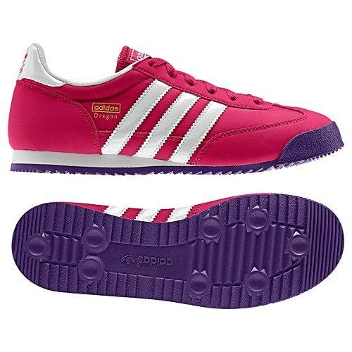 Adidas Dragon J (4.5, Bright Pink/White/Power Purple) adidas.