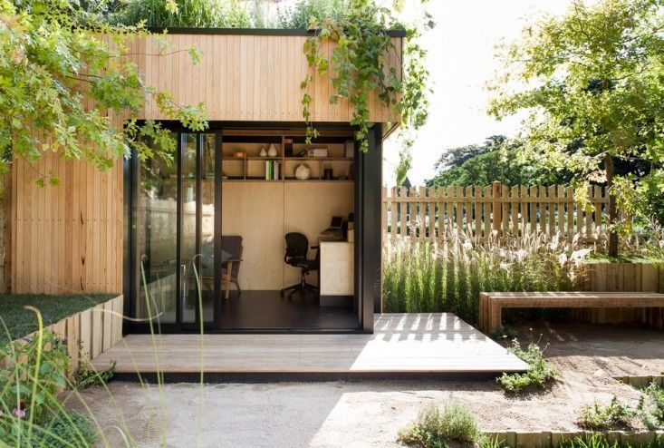 Espacio modular de patio prefab oficinas de dise o for Cobertizo de madera de jardin contemporaneo