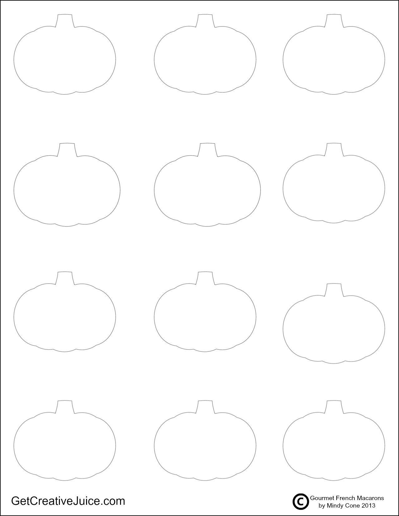 Pumpkin Template | Macarons | Pinterest | Pumpkin template, Macarons ...