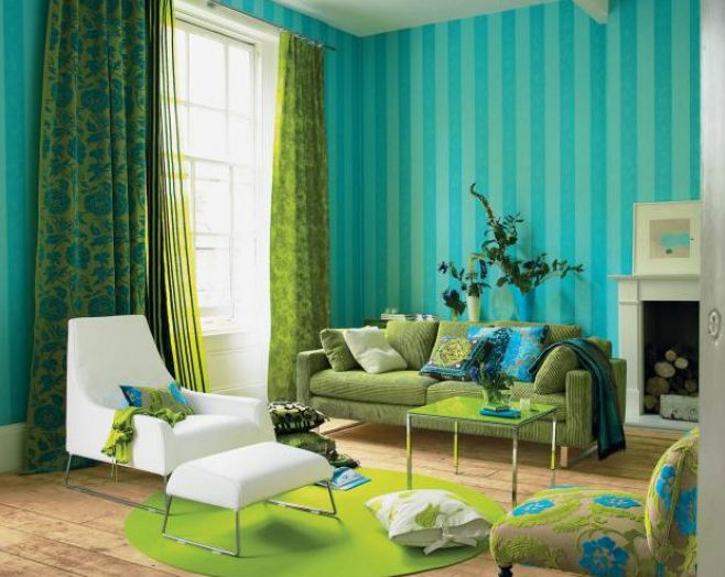 26 Relaxing Green Living Room Ideas Pinterest Grüne sofas - Wohnzimmer Weis Turkis