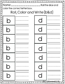 Dyslexia Worksheets Help With B D P And Q Reversals Dyslexia