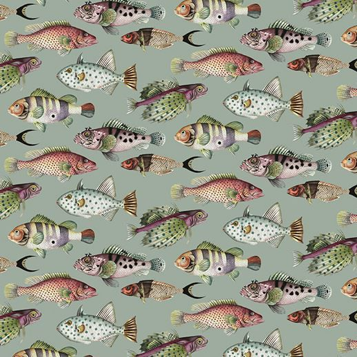 nautical wallpaper robin sprong 2 fish turquoise by soil design