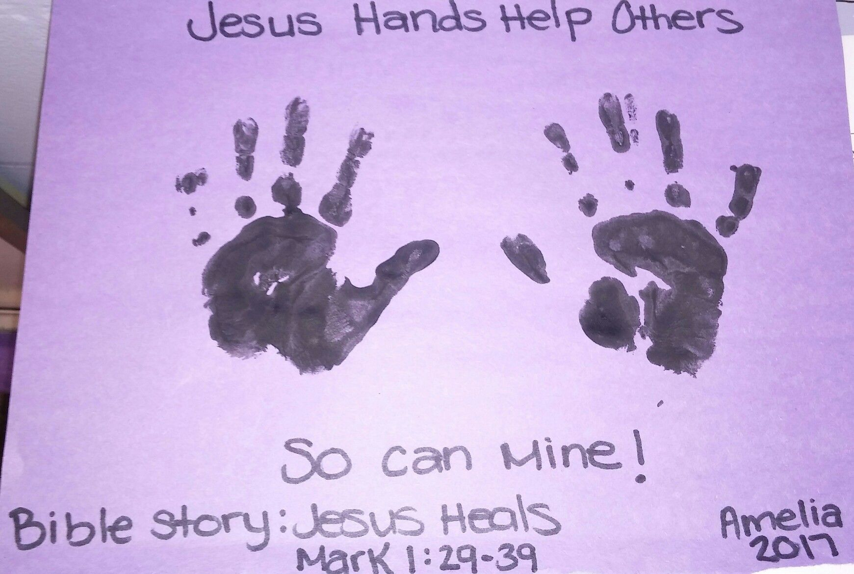 Sunday school craft for Toddlers Mark 1:29-39 | Sunday School