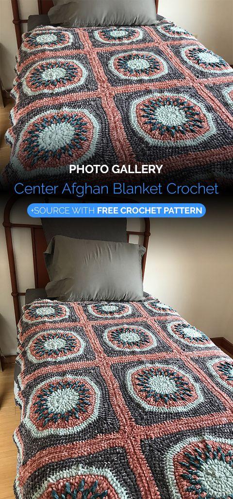 Center Afghan Blanket Crochet | Dos agujas y crochet | Pinterest ...