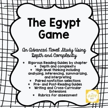 Advanced Novel Study for The Egypt Game using Depth and