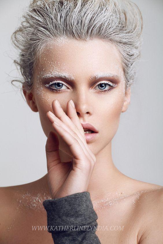 работа модели для макияжа и причесок