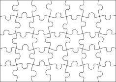 Plantilla per fer el teus puzzles | varis | Pinterest | Students