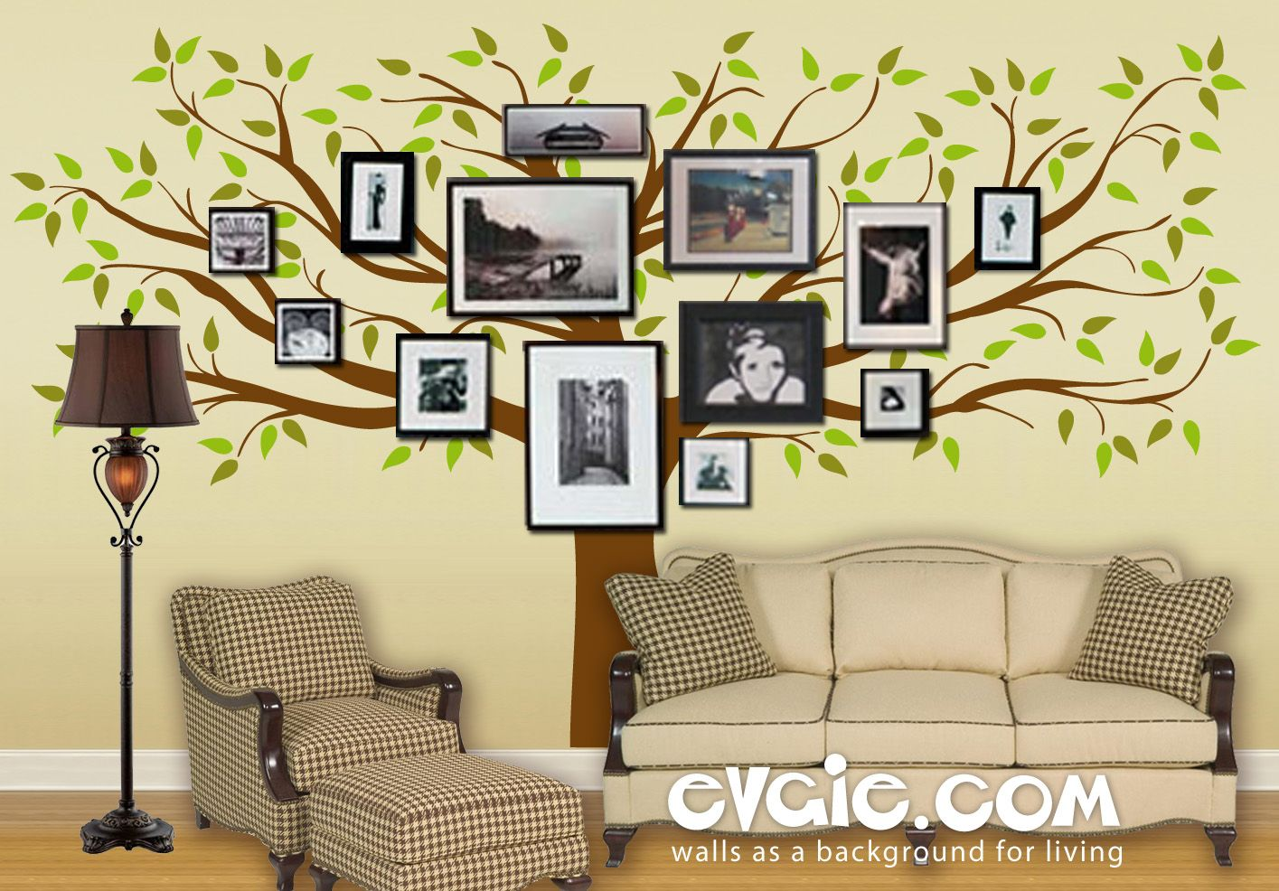 Family Tree Wall Decal with Picture Frames – evgie | Photo/Keepsake ...