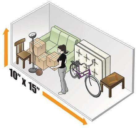 10 X 15 Storage Unit Size Www 145thaurorastorage Com Storage Unit Sizes Self Storage Storage Unit