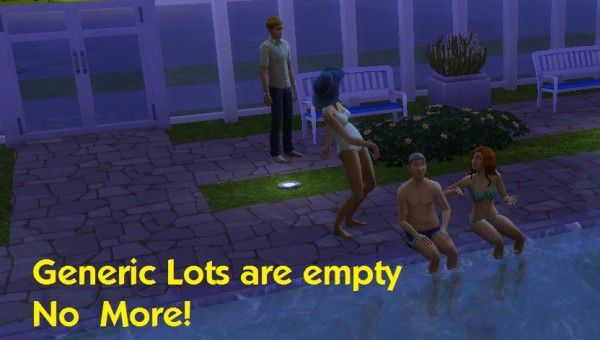 Mod The Sims: Generic Lots Are Empty No More by simmythesim • Sims 4 Downloads