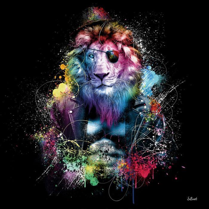 Menddy Peinture Abstraite Lion num/érique sans Cadre Image Bricolage num/érique par num/éros sur Toile /à colorier par num/éro pour Cadeau Unique avec encadr/é 40x50cm
