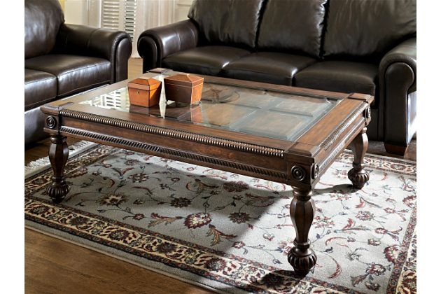 Dark Rustic Brown Mantera Coffee Table View 1