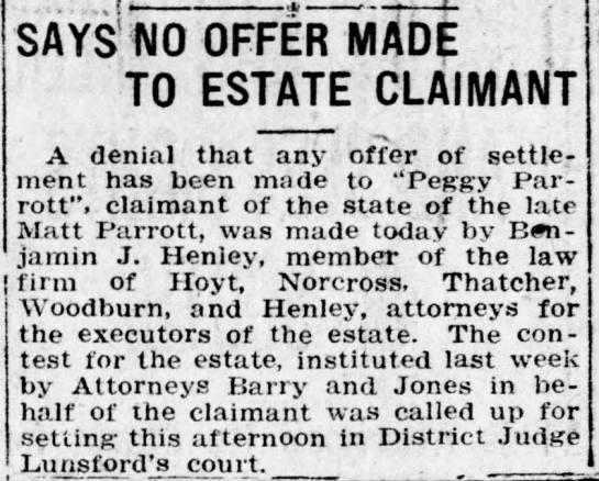 Reno Gazette-Journal, 20 Sep 1920, Mon, Page 2 Ben Henley in