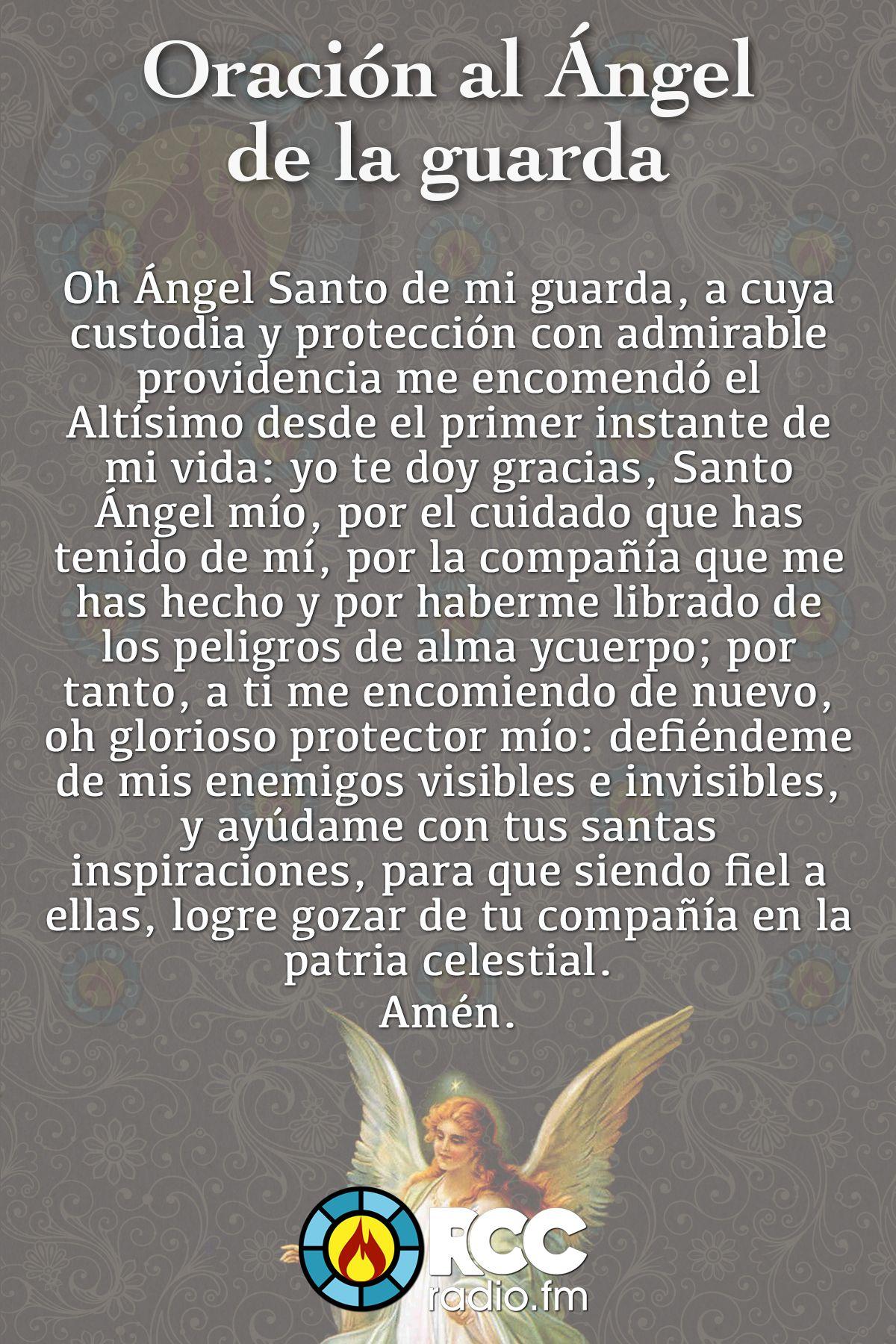 Oración Angel De La Guarda De Crecimiento Pinterest Prayers