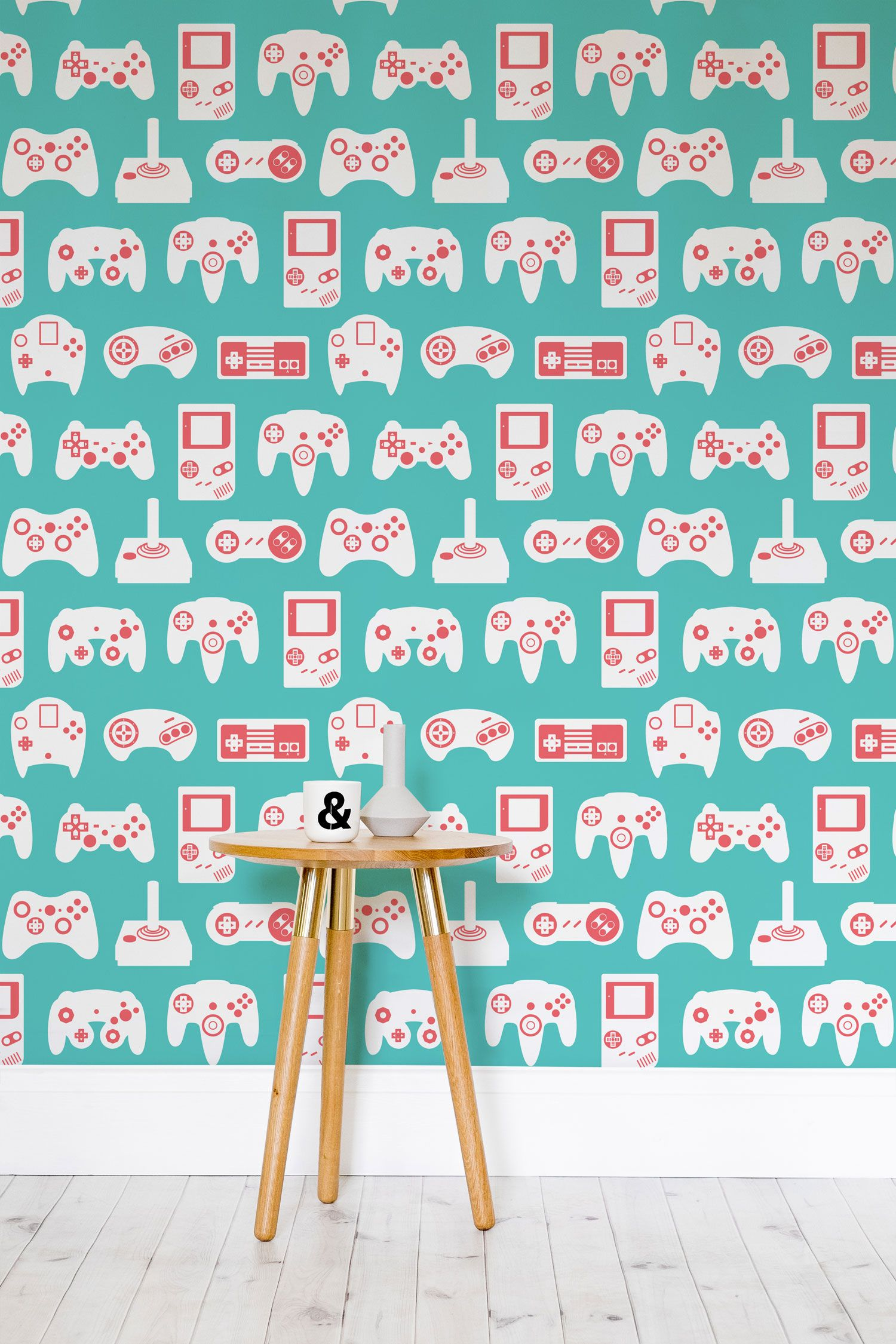 Pink And Blue Retro Game Wall Mural Retro Games Wallpaper Mural Wallpaper Gaming Wallpapers