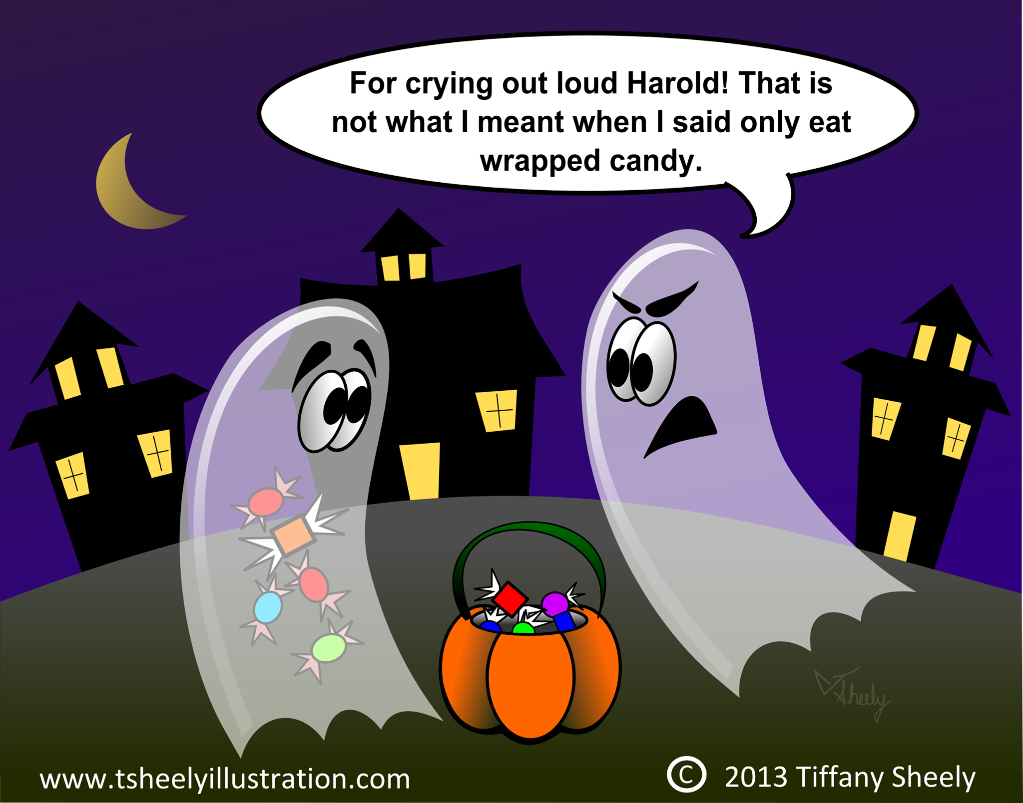 Only Eat Wrapped Candy At Halloween Tiffany Sheely Comic Funny Halloween Jokes Halloween Jokes Halloween Funny