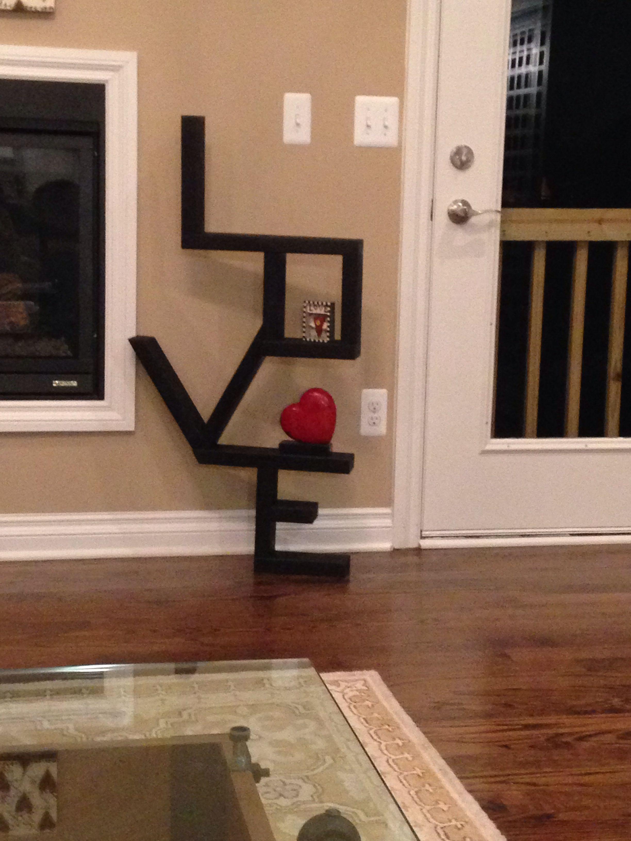 2x4 LOVE - DIY shelf cost$5.00 | Home ideas I ️ | Home ...