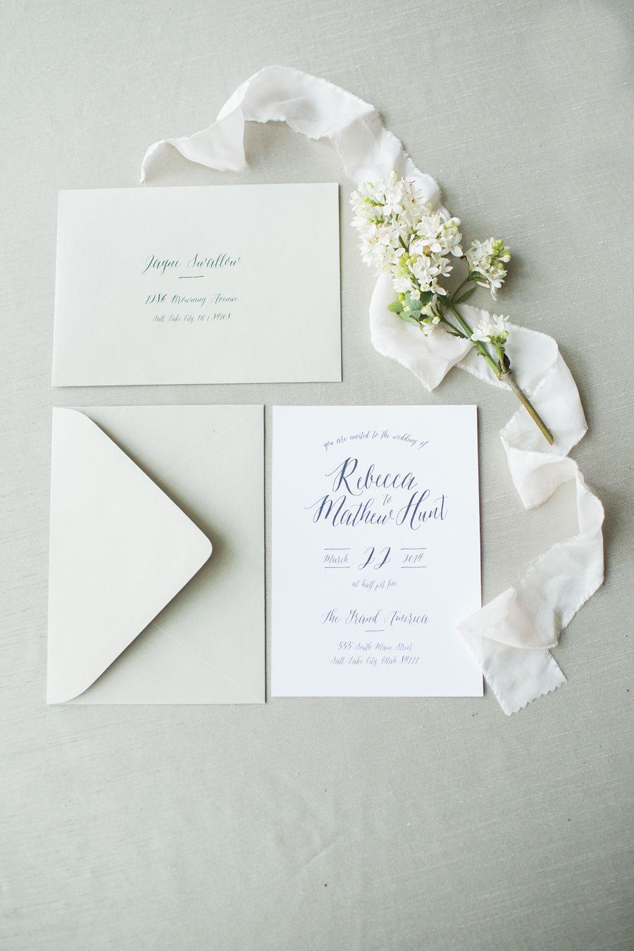 Modern Classic Wedding Invitations | Classic weddings, Weddings and ...