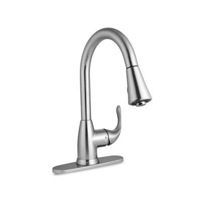 Glacier Bay Market 1 Handle Pull Down Sprayer Kitchen Faucet In