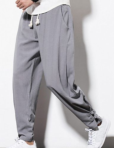 4036637d040 ... Plus Size Linen Loose Skinny Loose Chinos Pants - Solid Colored 6278422  2018. Shop for cheap Men s Pants   Shorts online  Buy at lightinthebox.com  on ...