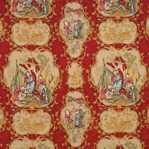Eisenkraut CHINOISERIE orientalische Toile von ExquisiteFabrics2015