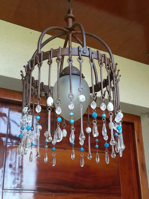 Lampara en hierro ambientaciones pinterest house - Lamparas de hierro ...