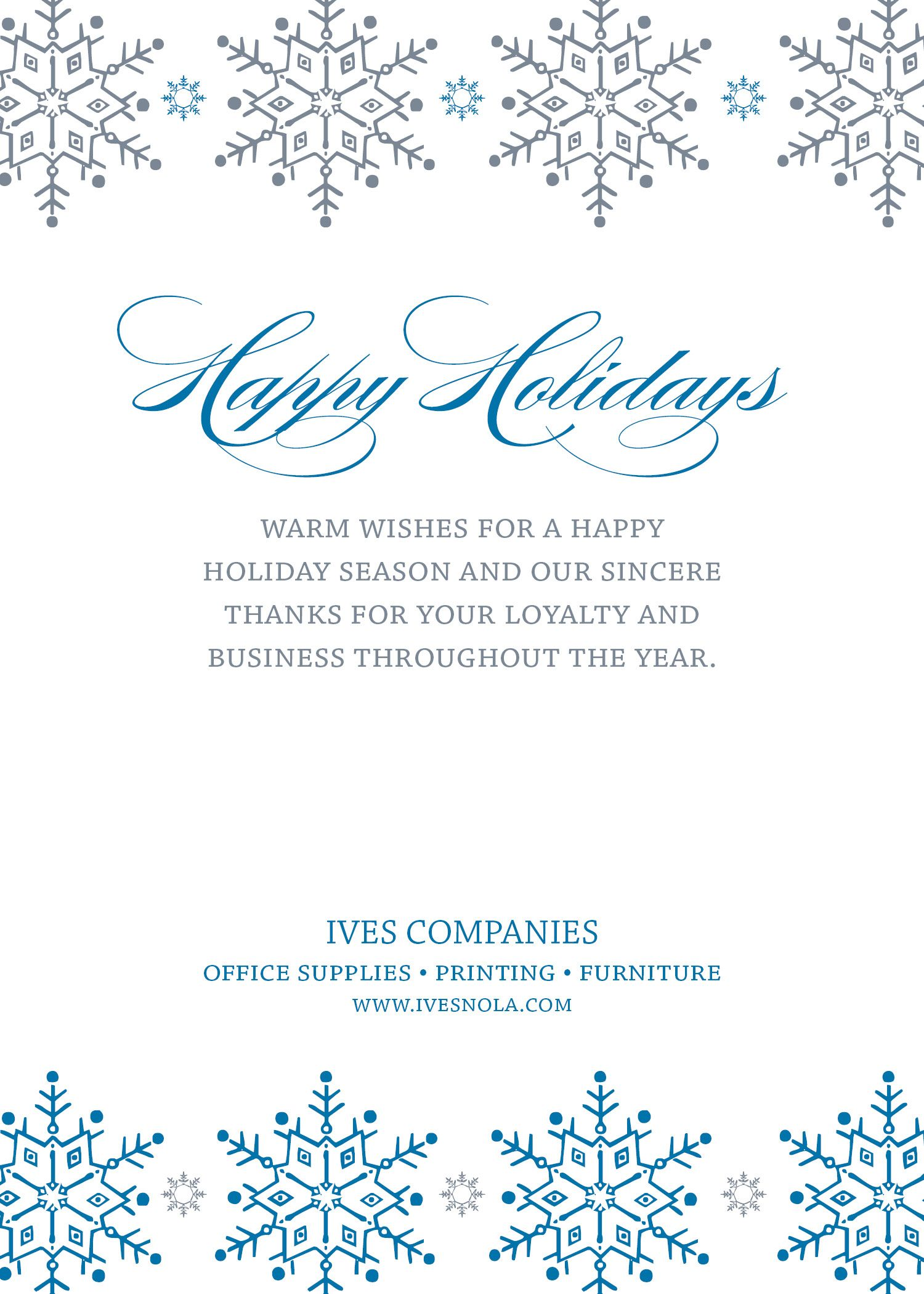 Corporate Holiday Card Design By Ives Office Supply Printing Furniture