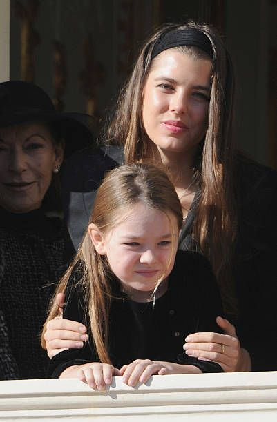 Charlotte Casiraghi And Princess Alexandra Of Hanover Attend The Award Ceremony For Badges Of Rank And Medals For Employees At The Prince S Palace As Hannover