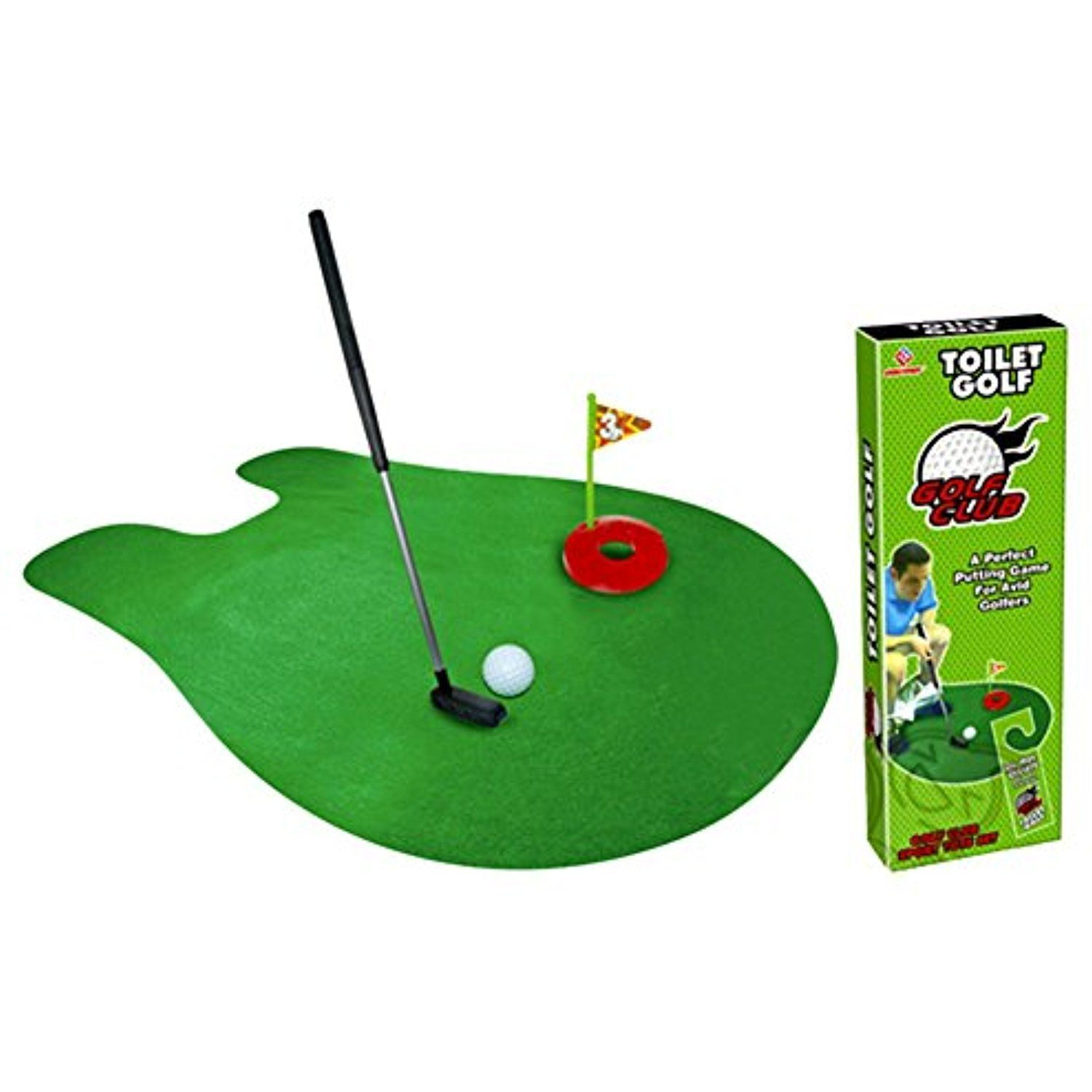 Yayoshow Toilet Golf Game Training Potty Putter Putting Mat Golf Game Click Image To Review More Details This Is A Mini Golf Set Toilet Golf Game Golf Set