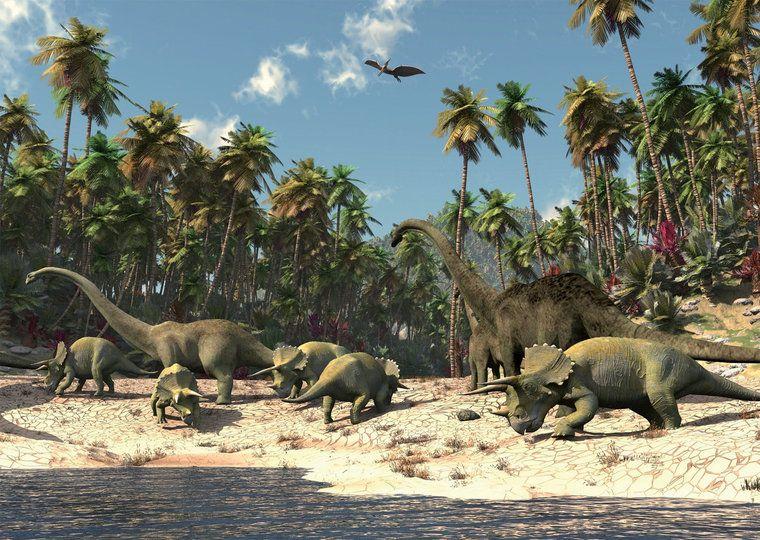Posterbehang dinosaurus l Dinoworld - Dinoworld